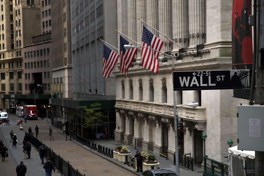 The New York Stock Exchange in lower Manhattan on May 16, 2016, in New York.