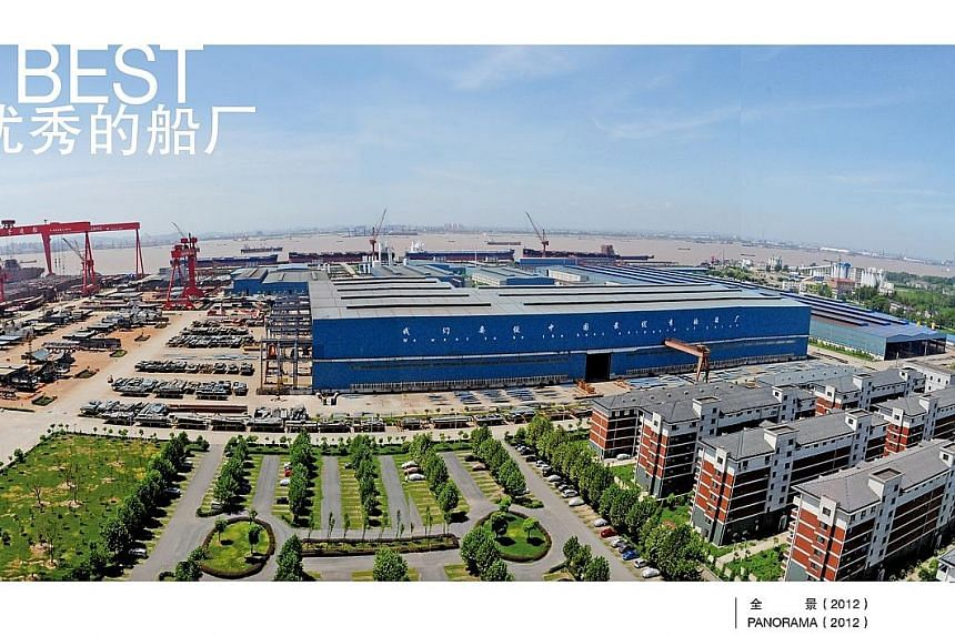 Yangzijiang, China's largest privately owned shipyard, laid off 4,000 workers this year because of the dramatic shrinking of China's shipbuilding industry over the past year.