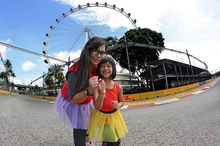 Zamilla Ma'Amin and her six-year-old daughter Amely will participate in the Princess Dash at the Great Eastern Women's Run for the first time on Nov 13.