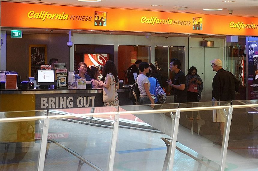 California Fitness' Novena branch before its closure. After nearly two decades in Singapore, the gym chain shuttered its branches suddenly last month. While gym members are looking for ways to get refunds, lawyers say the chances of getting their mon