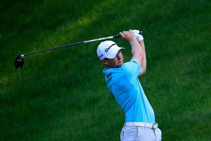 Daniel Berger plays a shot on the 15th tee during the Travelers Championship on Aug 5, 2016.