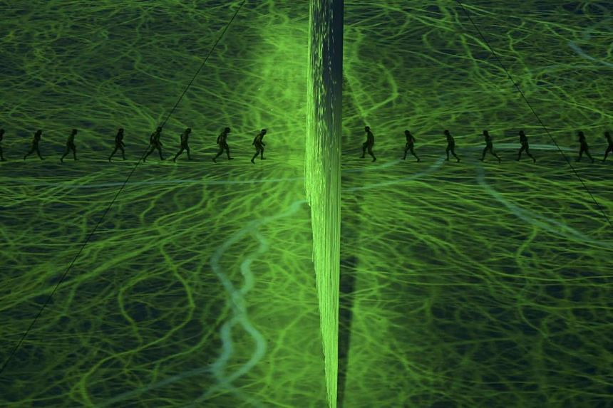 Performers pay tribute to the Amazon rainforest during the opening ceremony.