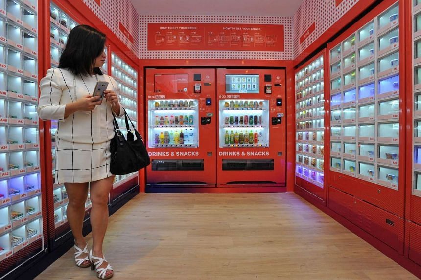 VendCafe features six vending machines that dispense a range of food items from hot meals to freshly squeezed juice.