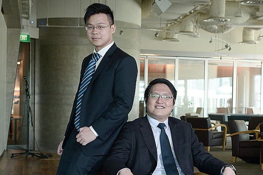 Mr Chean (seated), chief executive of Marine Nexus, an online platform that connects vessel providers with their customers globally. With him is his former classmate Timothy Ong, whom he roped in as his business partner and the firm's chief technolog