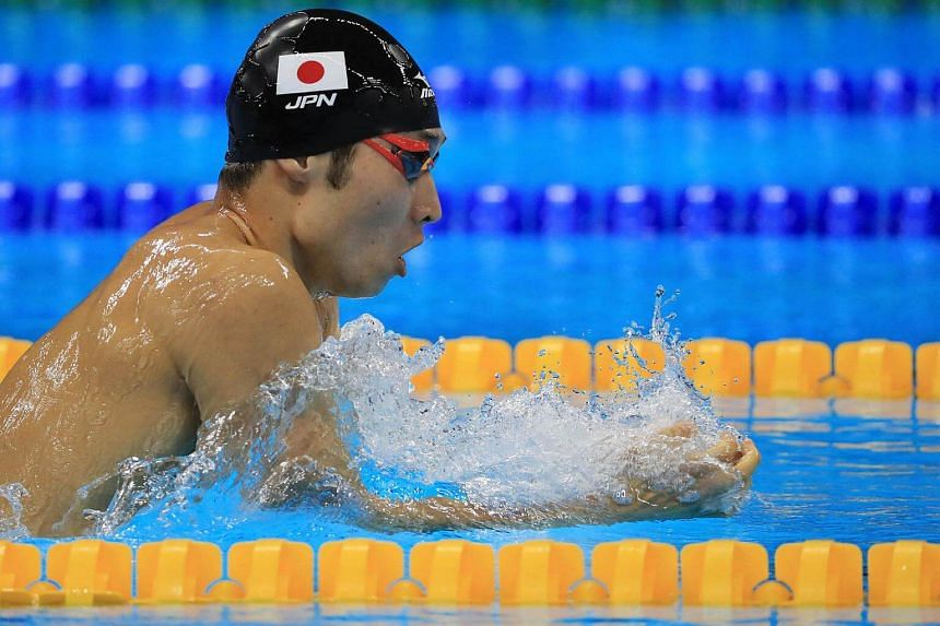 Kosuke Hagino of Japan competes during the 2016 Rio Olympics men's 400m individual medley on August 6.