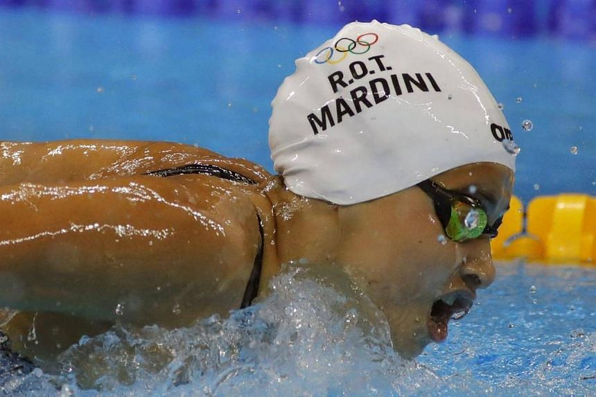 Yusra Mardini of the Refugee Olympic Team competes in the women's 100m Butterfly Heats of the Rio 2016 Olympic Games Swimming events at Olympic Aquatics Stadium at the Olympic Park in Rio de Janeiro, Brazil on August 6.