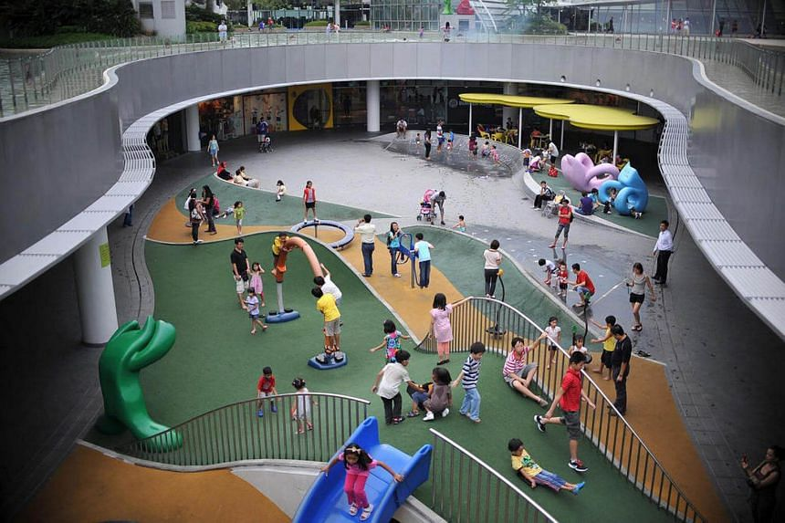 The children's playground on the second level of VivoCity.