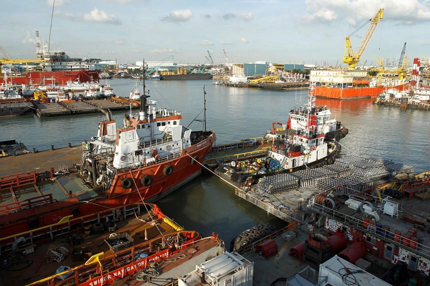 A view of Swiber's shipyard in Singapore on July 10, 2013.