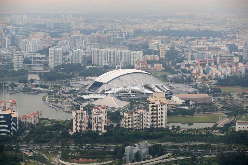 An aerial view of National Stadium on June 21.
