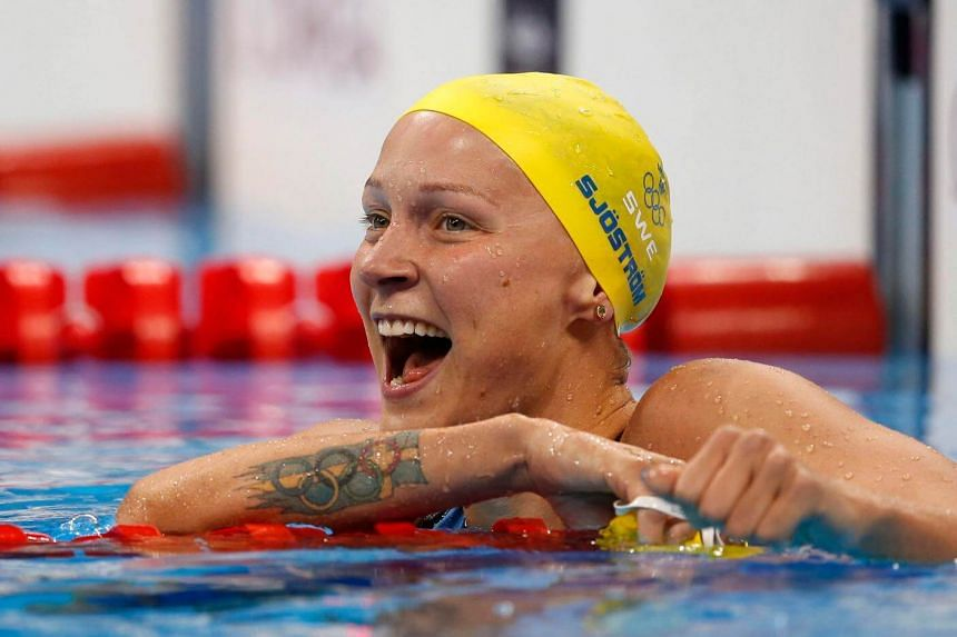 Sarah Sjostrom won the 100m fly in a world-record time of 55.48sec at the Rio 2016 Olympic Games.