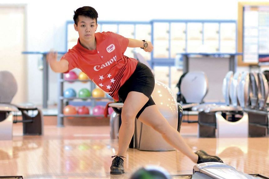 National bowler Shayna Ng competing at the US Women's Open.
