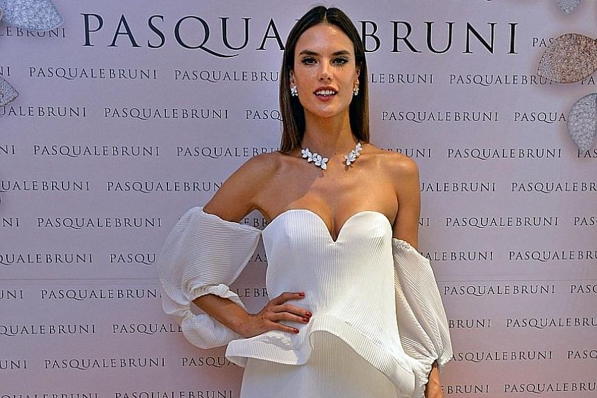 Brazilian model Alessandra Ambrosio was in town for the opening of Italian jewellery brand Pasquale Bruni's flagship Asian boutique in Wisma Atria.