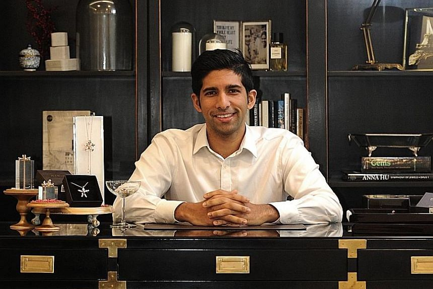 Mr Navin, the fifth-generation managing director of luxury goods group B.P. de Silva, took charge of Risis in September last year. He is one of only three people who know Risis' technique for plating orchids in pure gold. His sister runs B.P. de Silv
