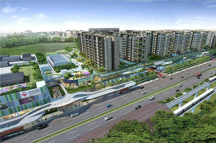 Artist's impression of Northpoint City in Yishun, which is expected to be up and running in 2018. FCL is upbeat about suburban malls despite a tough retail scene.