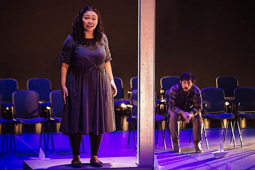 Siti Khalijah Zainal and sound designer- musician Bani Haykal shaped a rib-tickling, if unsatisfying, revival of Haresh Sharma's play Rosnah.