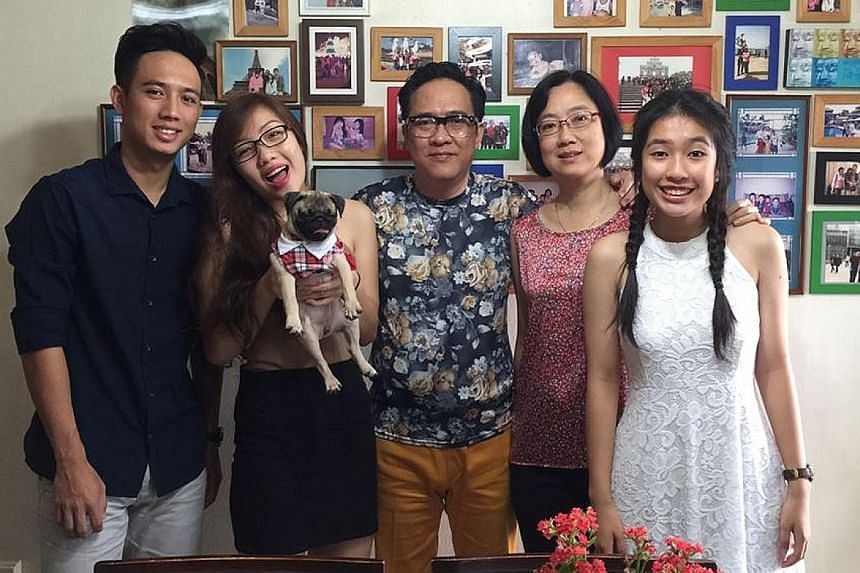 Mr Chow, wife Keng and children Marc, Carina (with dog Butty) and Isabella. The hospitality consultant and adult education trainer writes to the Forum page because it is a good platform for people to write responsibly and be heard - without unkind pr