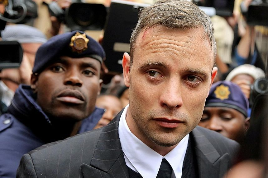 Pistorious was sentenced to six years in prison after he was found guilty of murdering his girlfriend.