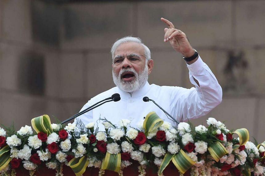 Indian Prime Minister Narendra Modi speaks in New Delhi on July 31, 2016.
