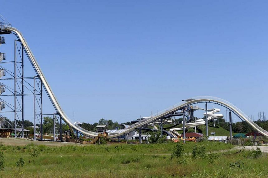 The Verruckt waterslide at the Schlitterbahn Waterpark in Kansas City show before it opened on July 10.
