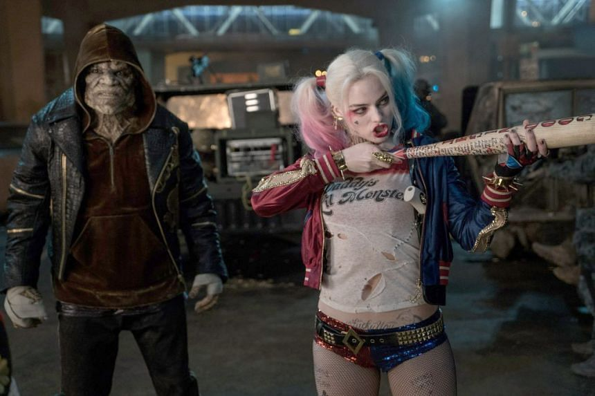 Margot Robbie as Harley Quinn in Suicide Squad.
