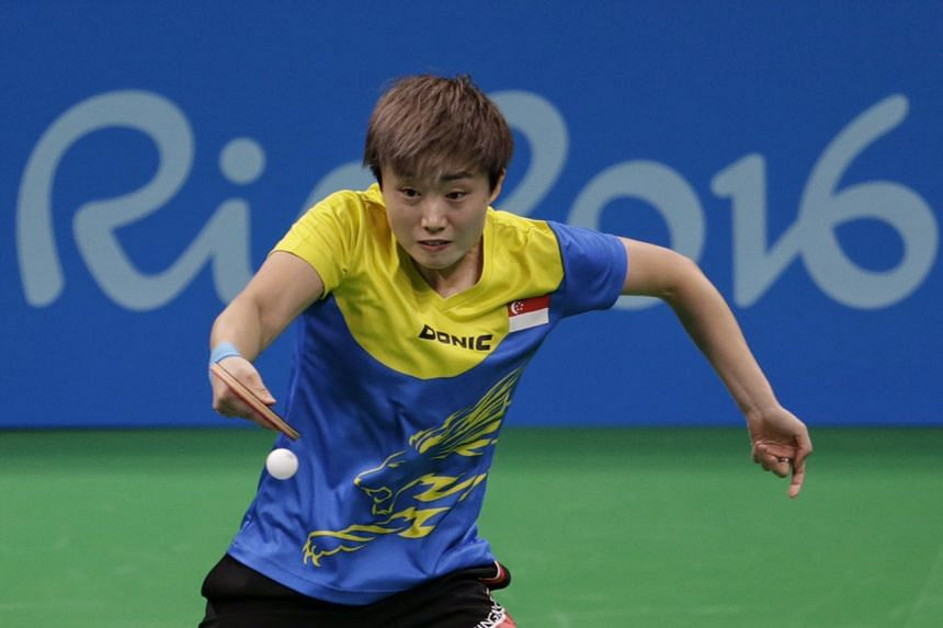 Singapore's Feng Tianwei lost to Japan's Ai Fukuhara in the quarter finals of the Rio 2016 Olympics on Aug 9, 2016.