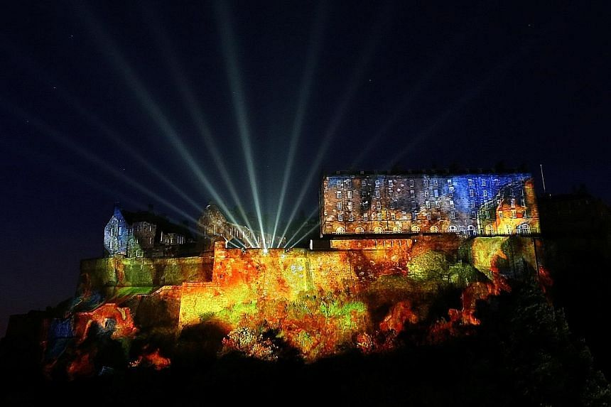 The Edinburgh Castle was the backdrop of the show on Sunday.
