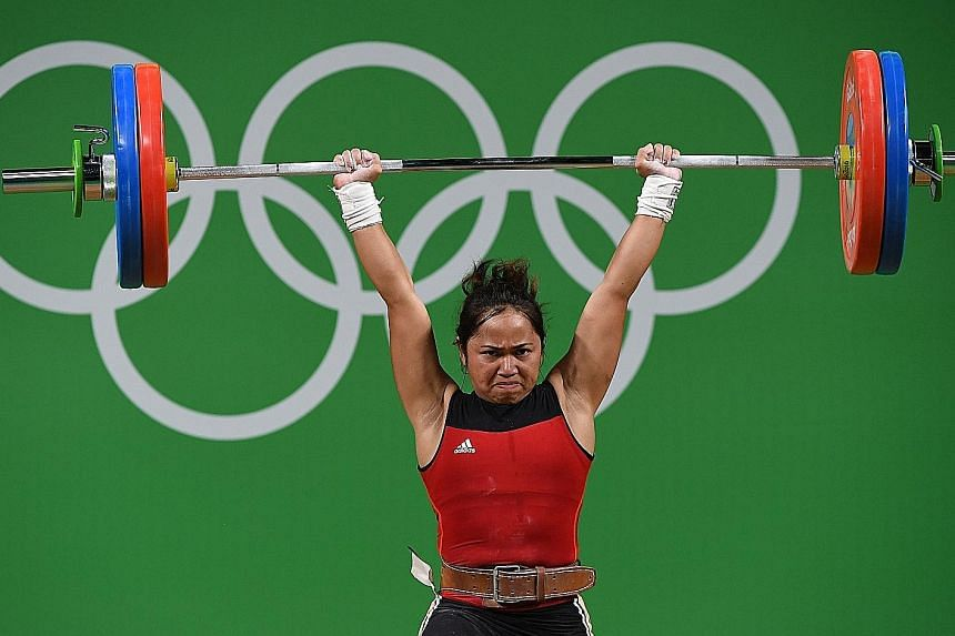 A successful lift by Hidilyn Diaz in the 53kg event, in which her combined total of 200kg earned her the silver. It was the first time in 20 years the Philippines had won an Olympic medal, and Diaz became the country's first female medallist in the h