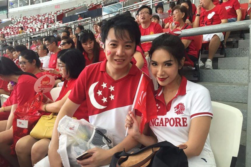 Mr Zachary Yong, 35, and his Thai fashion blogger wife Keira Phitchakorn, 28, are attending their first NDP parade as a couple.
