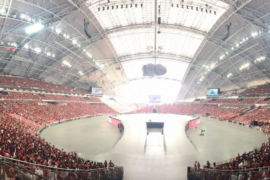 The stadium slowly filling up at 5.30pm.