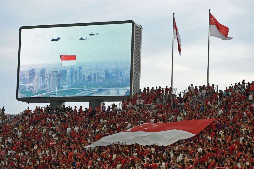 The scene at the second National Day Parade preview at the Sports Hub on July 30, 2016.