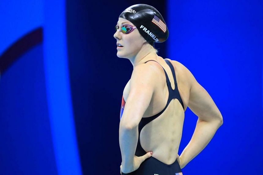 American swimmer Missy Franklin prepares for the Women's 200m Freestyle semi-finals.
