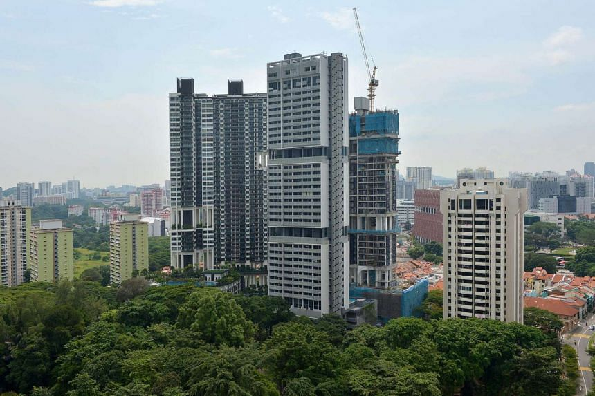 Resale prices of non-landed private residential homes slipped last month.