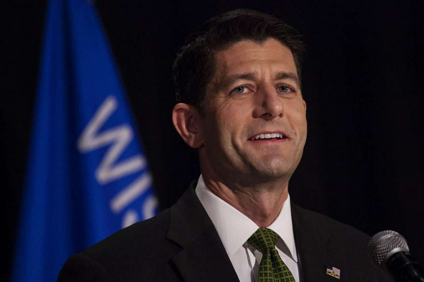 House Speaker Paul Ryan speaks at his Primary Night press conference on August 9 in Janesville, Wisconsin.