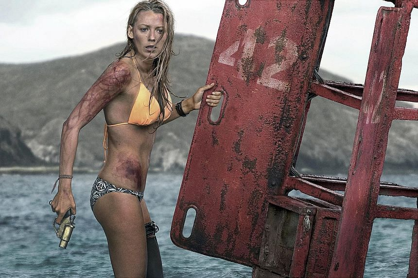 Blake Lively plays a medical student stranded in the feeding grounds of a great white shark.
