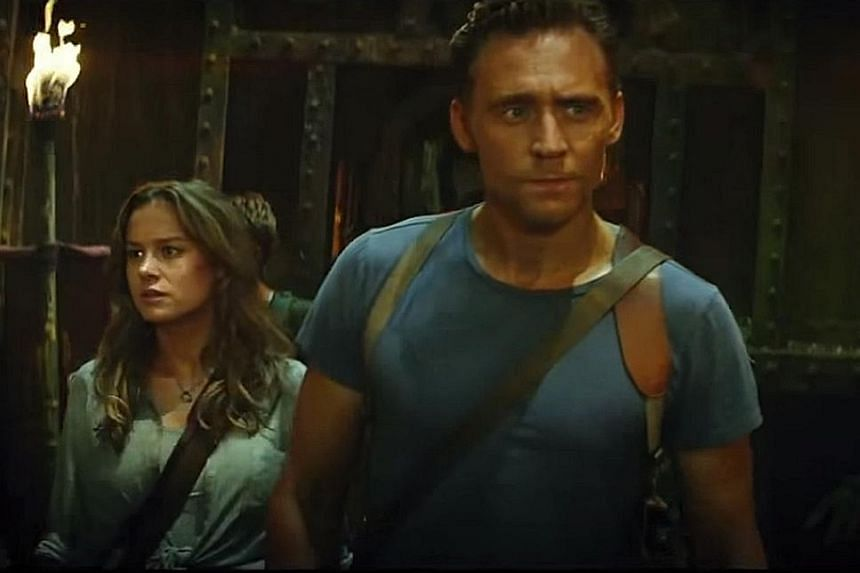 Tom Hiddleston (right) and Brie Larson (left).