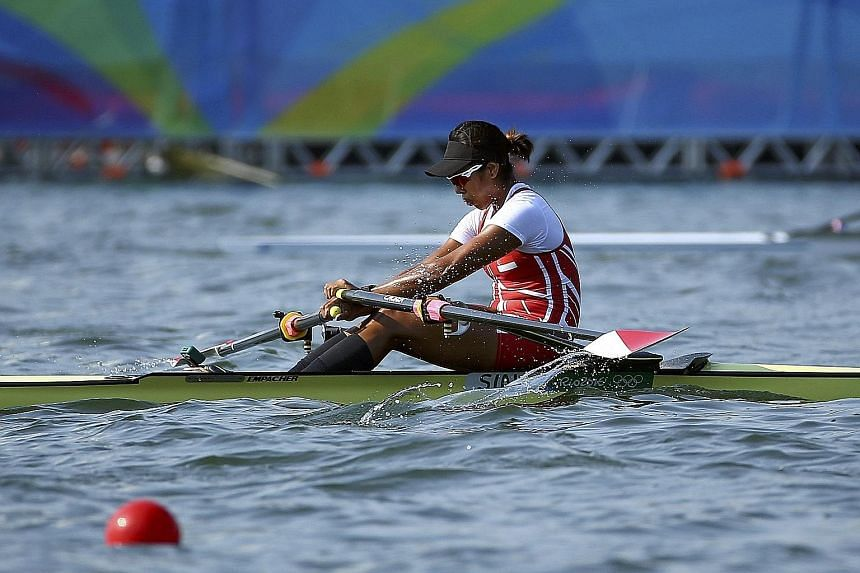 Saiyidah Aisyah, Singapore's first Olympic rower, said her mind let her down in yesterday's quarter-finals where she allowed negative thoughts to take hold.