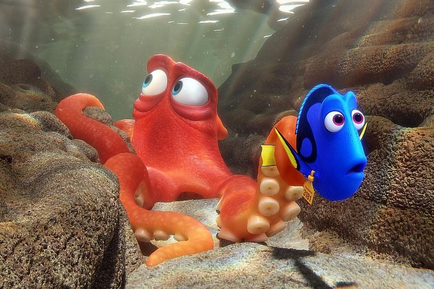 Pixar's sequel Finding Dory (above) feels like part of a connected universe and superhero flicks such as Captain America: Civil War get blockbuster promotion.