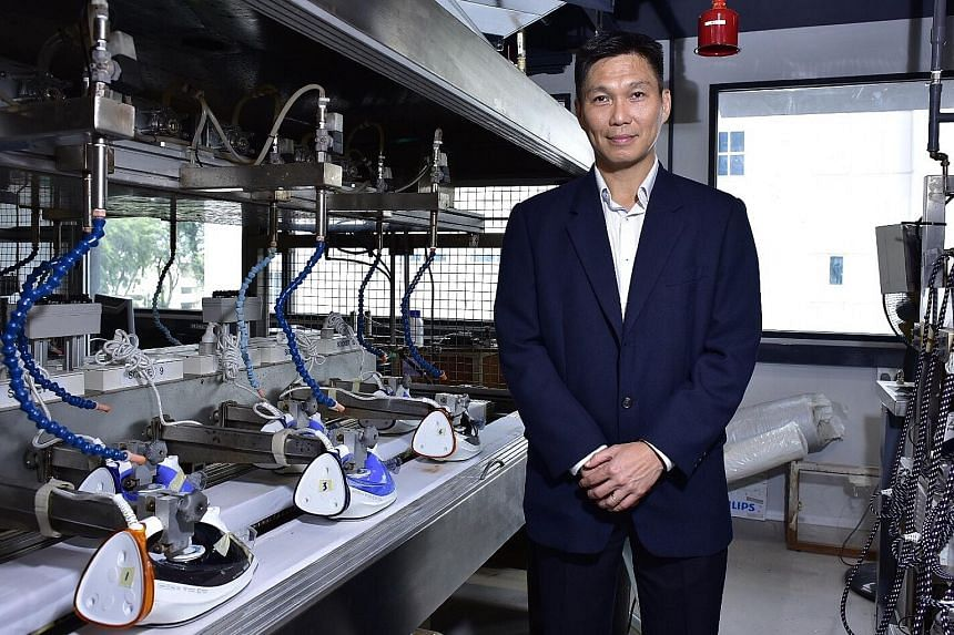 Mr Ching Boon Khian, who heads the Singapore- based team which designs Philips garment-care products for the global market, oversees the entire design process for irons.