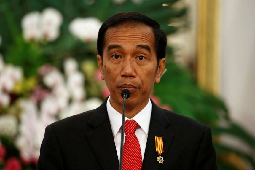 President Widodo delivers a speech during an Indonesia-Malaysia bilateral meeting in Jakarta on Aug 1, 2016.