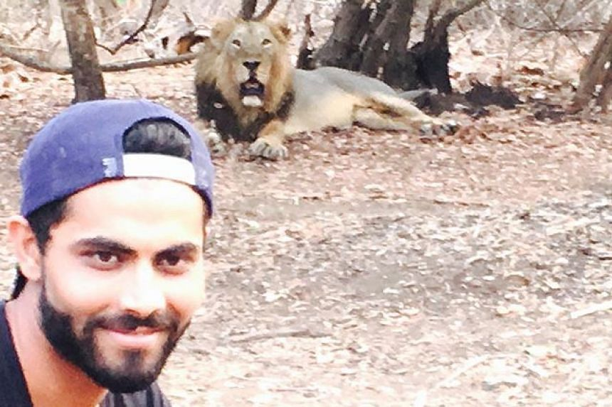 Jadeja was fined for photos like this one posted to Instagram.