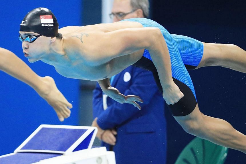 Joseph Schooling of Singapore competes during the men's 100m freestyle semi-finals at the Rio Olympics on Aug 9.