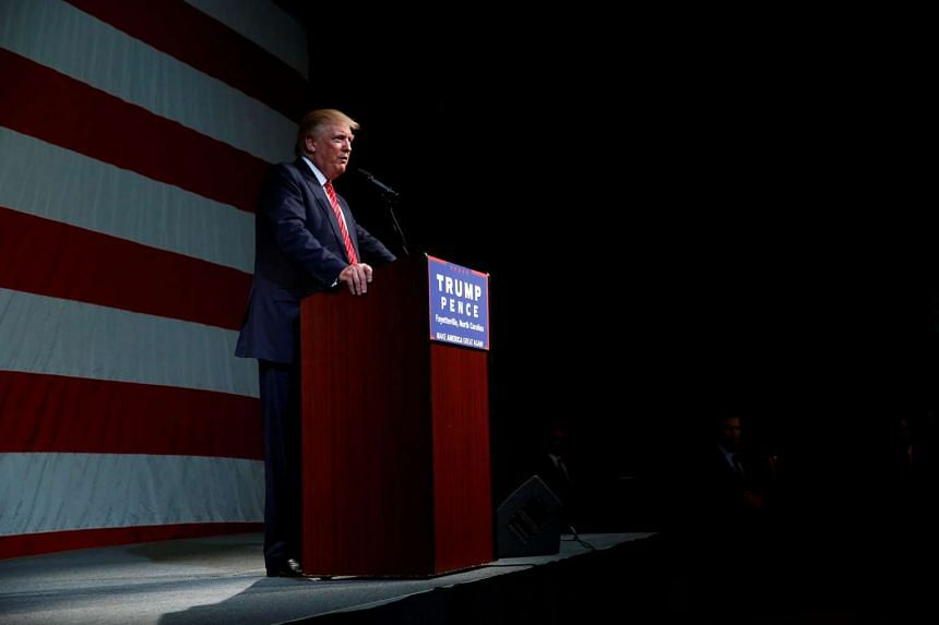 Republican US presidential nominee Donald Trump attends a campaign rally at Crown Arena in Fayetteville, North Carolina, on Aug 9.