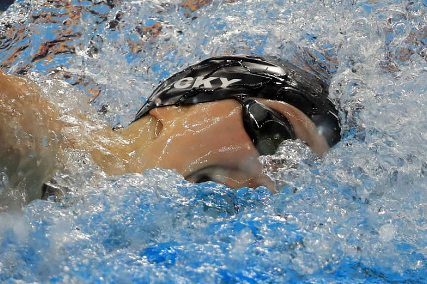 Katie Ledecky of USA competes during the women's 200m freestyle final at the 2016 Rio Olympics on August 9.