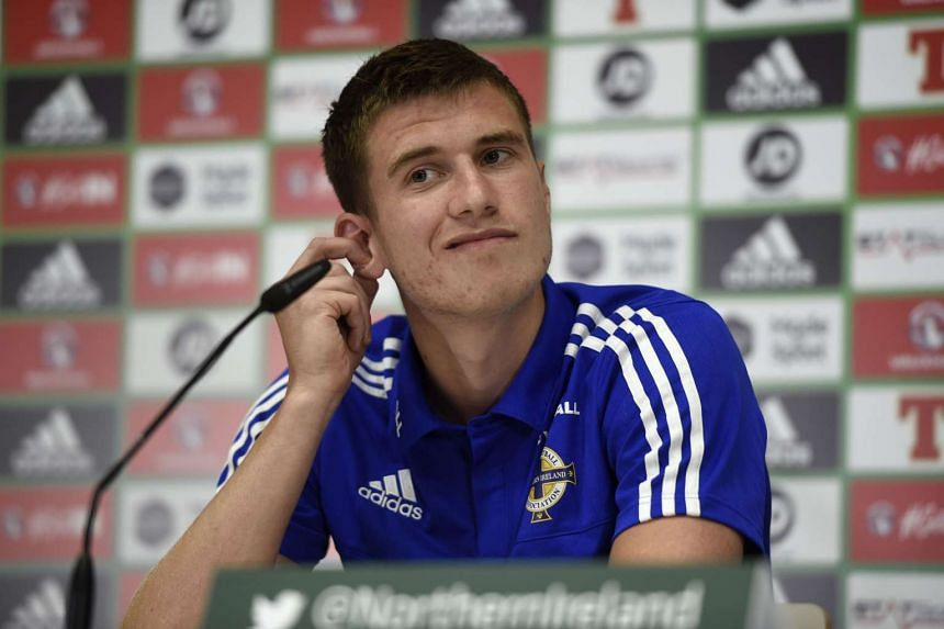 Paddy McNair at a press conference in Saint George de Reneins on June 10, 2016.