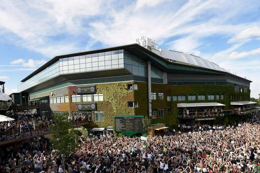 A shot of Wimbledon's centre court on July 7. British police are investigating claims that tennis player Gabriella Taylor was poisoned at this year's Wimbledon competition.