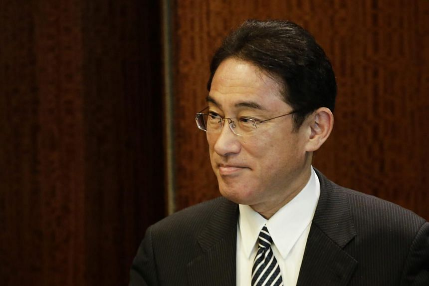 Japanese Foreign Minister Fumio Kishida arrives for a meeting with United Nations Secretary-General Ban Ki-moon (not pictured) at the United Nations Headquarters in New York, USA on July 28.
