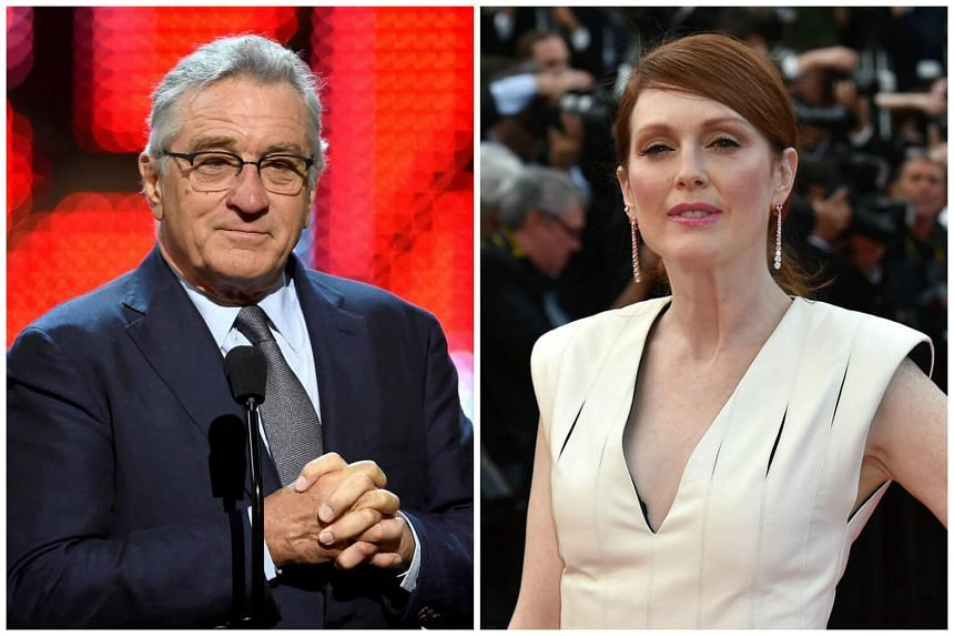 Oscar-winners Robert De Niro (left) and Julianne Moore to star in a new television series.