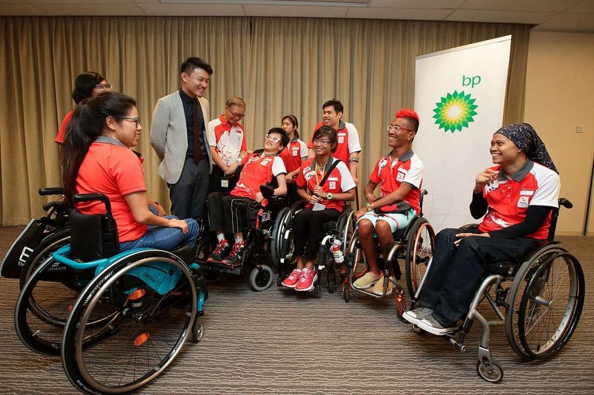 Singapore's Paralympians met with MCCY Parliamentary Secretary Baey Yam Keng at the Rio Paralympics Team Singapore send-off reception event.