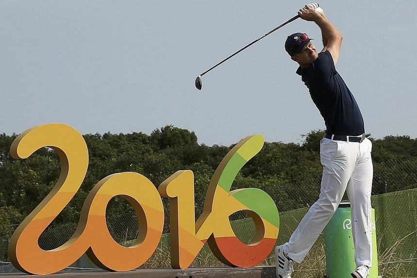 British golfer Justin Rose (left), teeing off during practice in Rio, and Rickie Fowler of the US are among only eight of the world's top 20 golfers to make it to the Games.