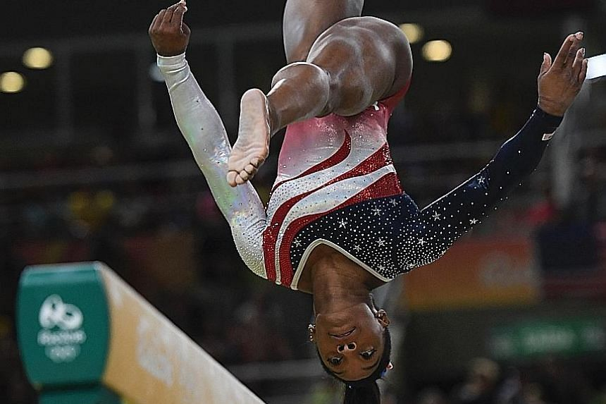 Simone Biles taking to the floor last for the Americans. She turned on an acrobatic display of tumbling to Brazilian samba music, which proved a hit with the home crowd, to confirm one of the most overwhelming victories seen.